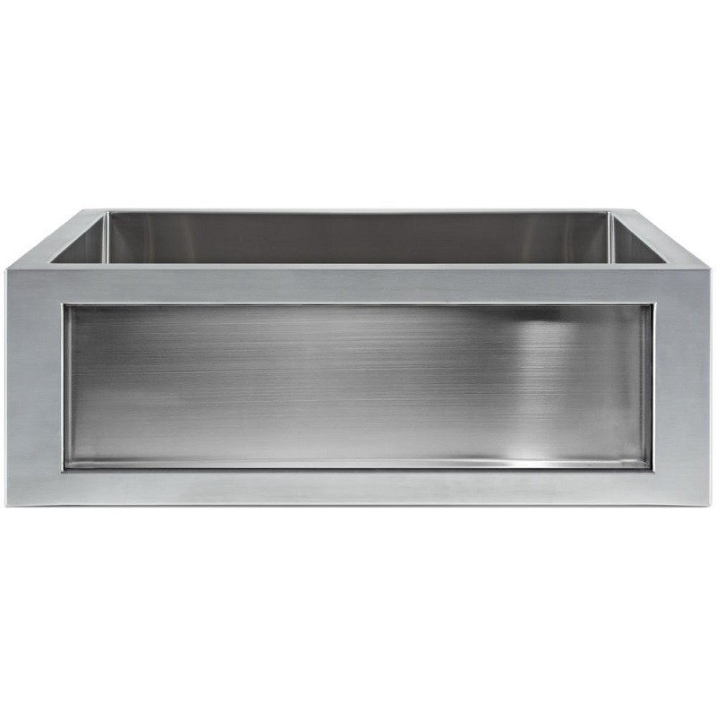 LINKASINK C071-30 SS INSET APRON COLLECTION 30 INCH UNDERMOUNT FARM HOUSE STAINLESS STEEL KITCHEN SINK
