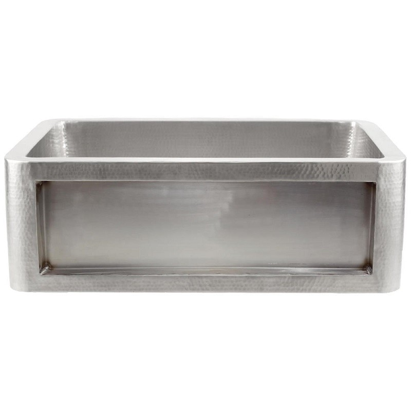 LINKASINK C070-30-SS INSET APRON COLLECTION 30 INCH UNDERMOUNT FARM HOUSE STAINLESS STEEL KITCHEN SINK