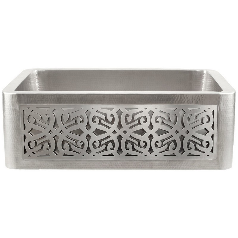 LINKASINK C070-30 SS PNL106 INSET APRON COLLECTION 30 INCH UNDERMOUNT FARM HOUSE STAINLESS STEEL KITCHEN SINK WITH TRIBAL PANEL