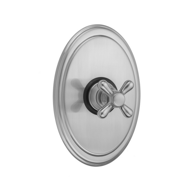 Satin Brass Jaclo A492-TRIM-SB Traditional Oval Pressure Balance Valve with Traditional Lever Handle