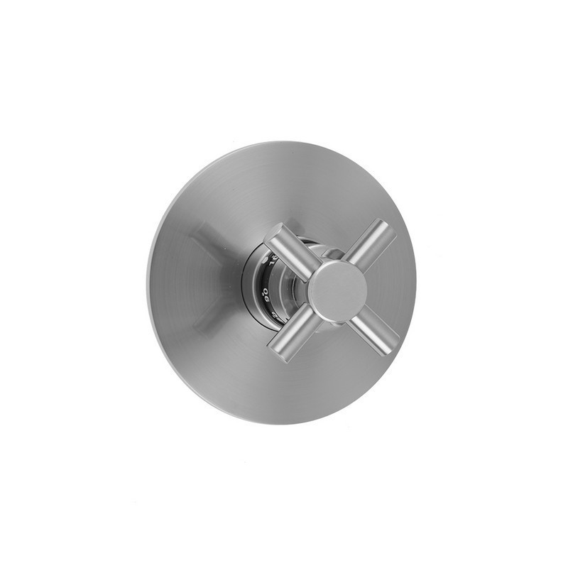 Jaclo T530 Trim Round Plate With Contempo Cross Trim For Thermostatic Valves J Th34 And J Th12 T530 Trim Ab