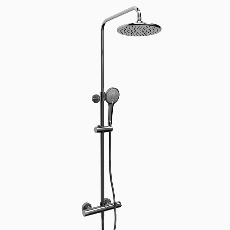 RIOBEL CSTM57C  DUO SHOWER RAIL WITH TYPE T (THERMOSTATIC) 1/2 INCH EXTERNAL BAR IN CHROME