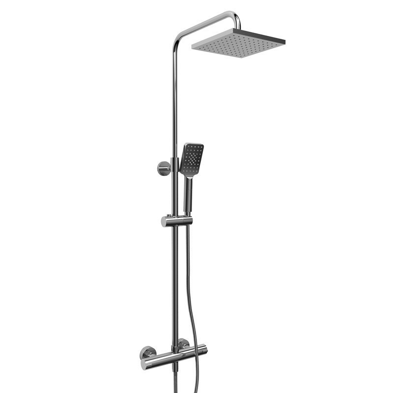 RIOBEL CSTQ57C DUO SHOWER RAIL WITH TYPE T (THERMOSTATIC) 1/2 INCH EXTERNAL BAR IN CHROME