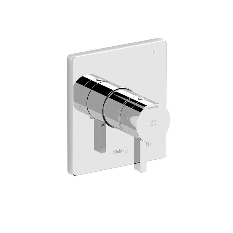RIOBEL PXTQ47C-SPEX PARADOX 3-WAY NO SHARE TYPE T/P (THERMOSTATIC/PRESSURE BALANCE) COAXIAL COMPLETE VALVE PEX IN CHROME