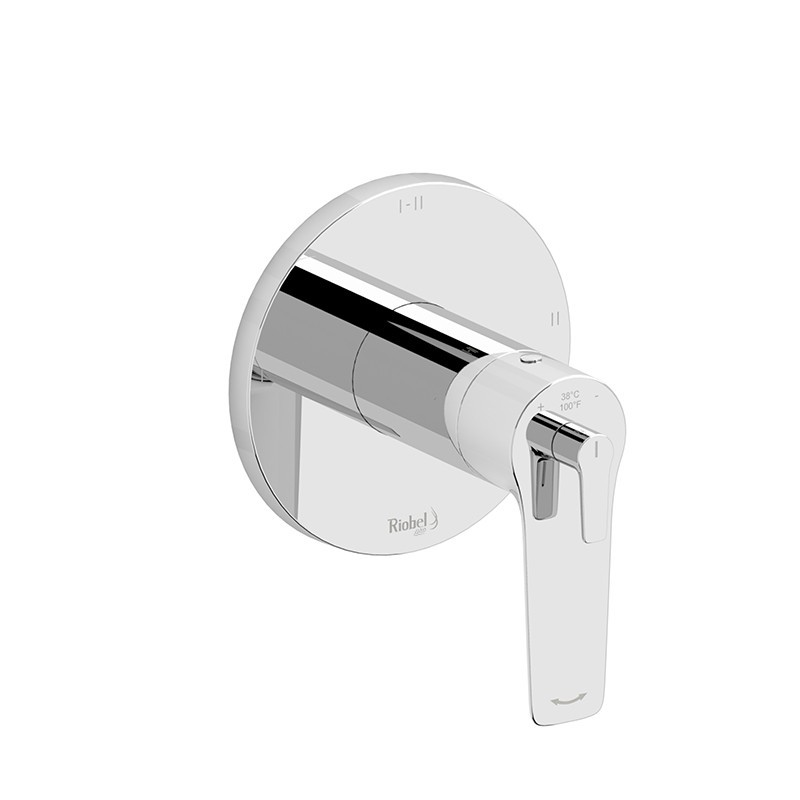 RIOBEL TDJ93C 2-WAY TYPE T/P (THERMOSTATIC/PRESSURE BALANCE) COAXIAL VALVE TRIM IN CHROME
