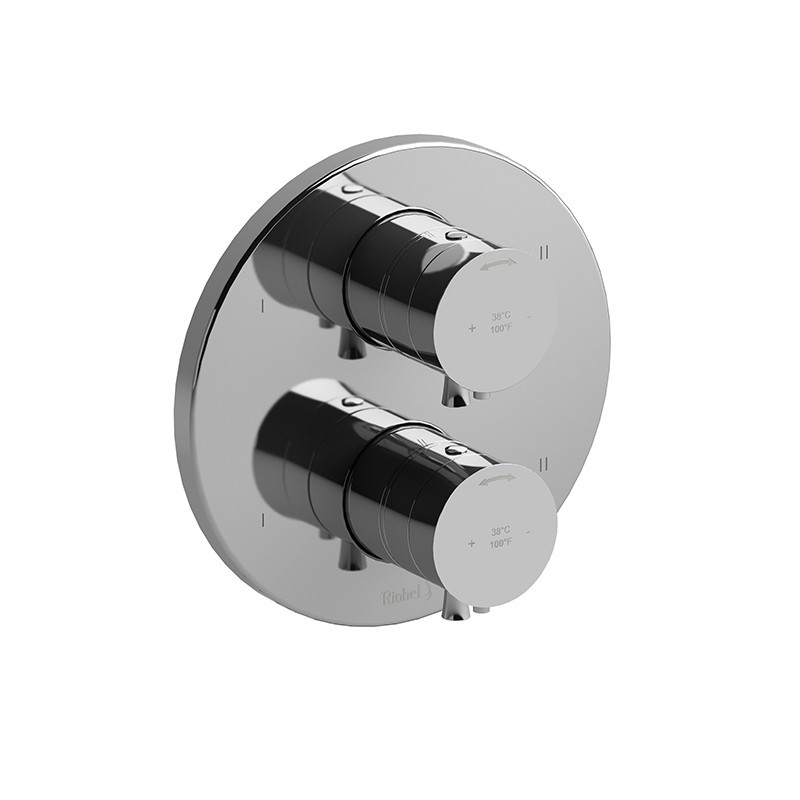 RIOBEL TEDTM88 EDGE 4-WAY NO SHARE TYPE T/P (THERMOSTATIC/PRESSURE BALANCE) COAXIAL VALVE TRIM