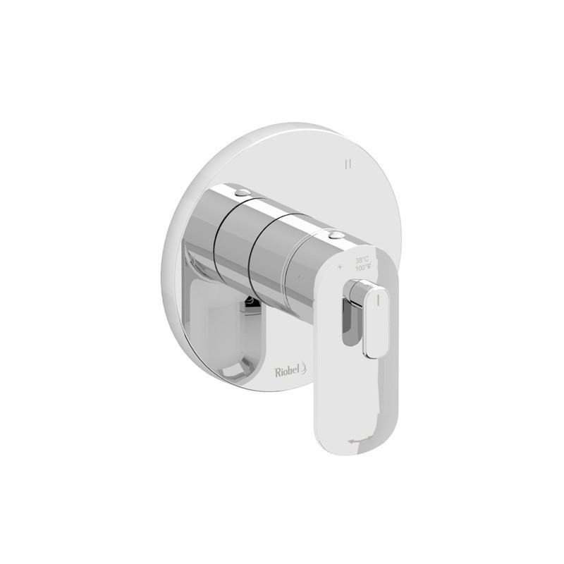RIOBEL TEV95C EVER 3-WAY TYPE T/P (THERMOSTATIC/PRESSURE BALANCE) COAXIAL VALVE TRIM IN CHROME