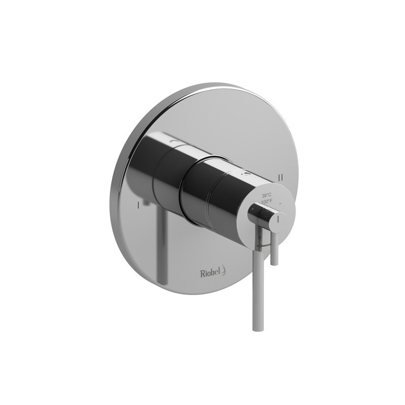 RIOBEL TGS44C 2-WAY NO SHARE TYPE T/P (THERMOSTATIC/PRESSURE BALANCE) COAXIAL VALVE TRIM IN CHROME