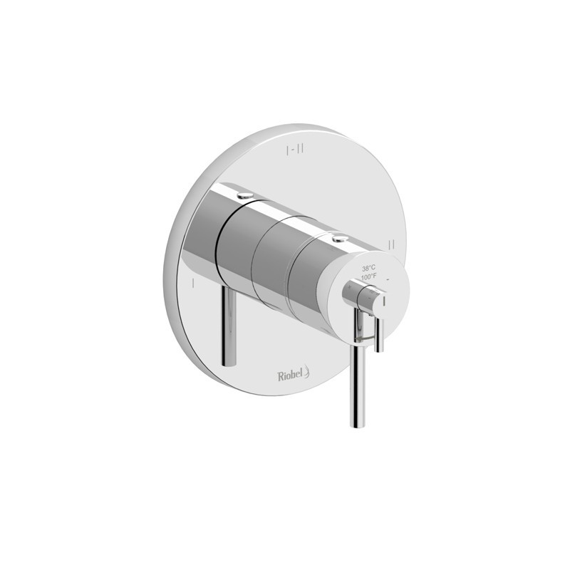 RIOBEL TNJ93C NJOY 2-WAY TYPE T/P (THERMOSTATIC/PRESSURE BALANCE) COAXIAL VALVE TRIM IN CHROME
