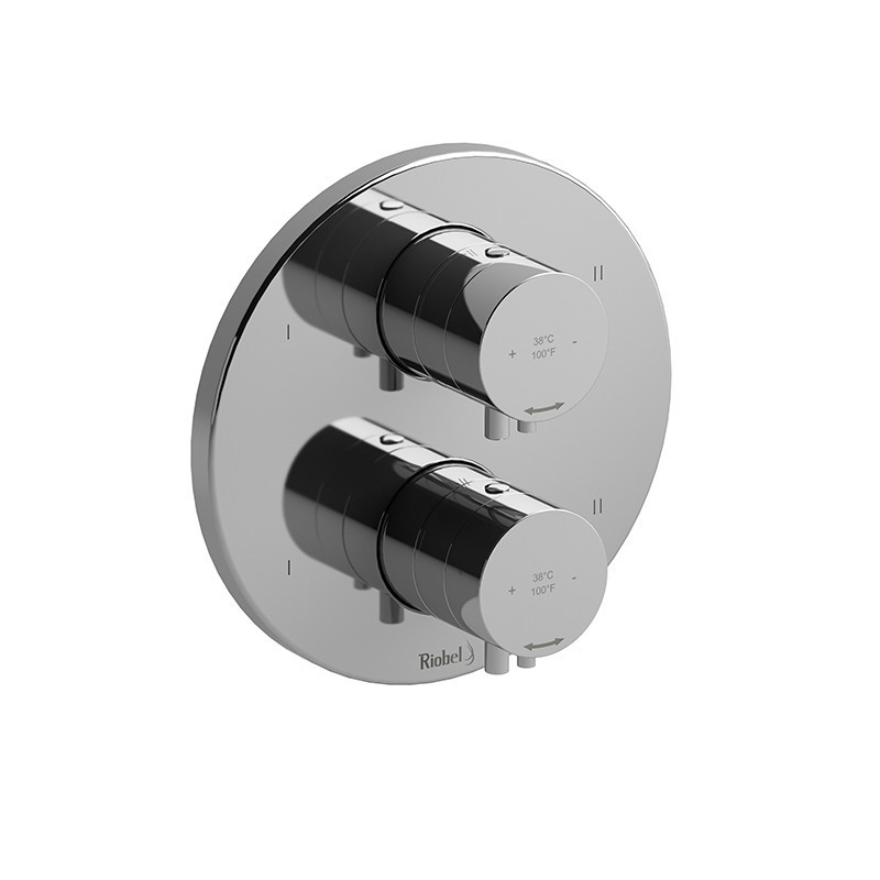 RIOBEL TSYTM88 SYLLA 4-WAY NO SHARE TYPE T/P (THERMOSTATIC/PRESSURE BALANCE) COAXIAL VALVE TRIM