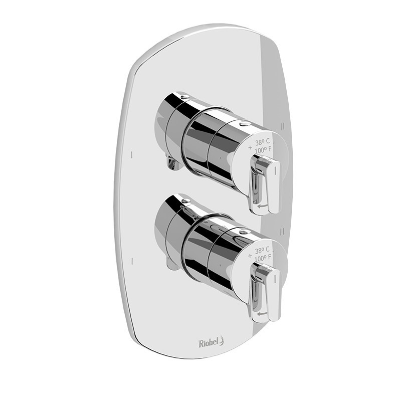 RIOBEL TVY88C VENTY 4-WAY NO SHARE TYPE T/P (THERMOSTATIC/PRESSURE BALANCE) COAXIAL VALVE TRIM IN CHROME