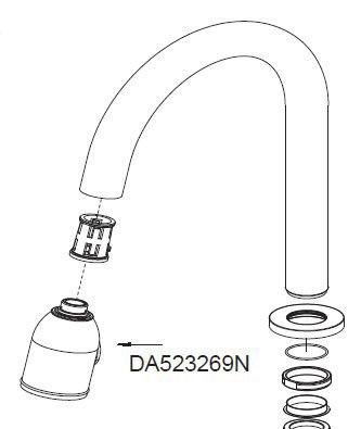 Danze DA523269N Melrose Pull Down Spray Head