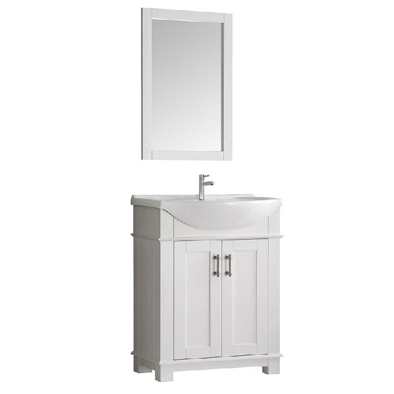FRESCA FCB2303WH-I HARTFORD 30 INCH WHITE TRADITIONAL BATHROOM VANITY
