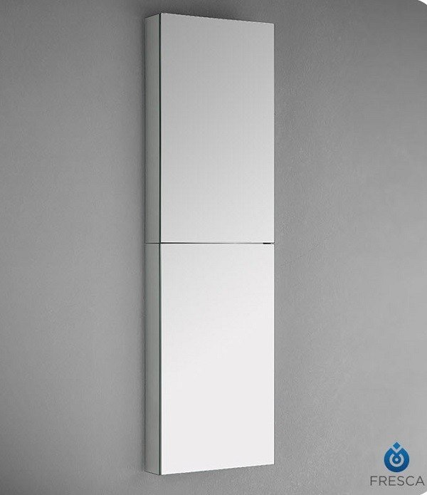 & Fresca FMC8030 52 Inch Tall Bathroom Medicine Cabinet with Mirrors