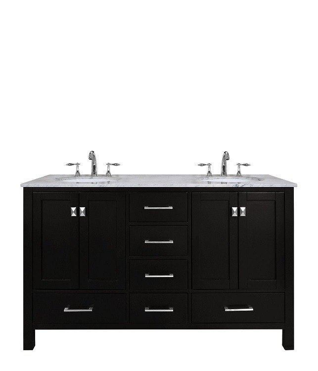 STUFURHOME GM-6412-36GY-CR 36 INCH MALIBU GREY SINGLE SINK BATHROOM VANITY