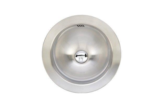 Wells Sinkware JZA1616-6-1 Jazz Series 15-1/2 Inch Single Bowl Topmount Sink Set