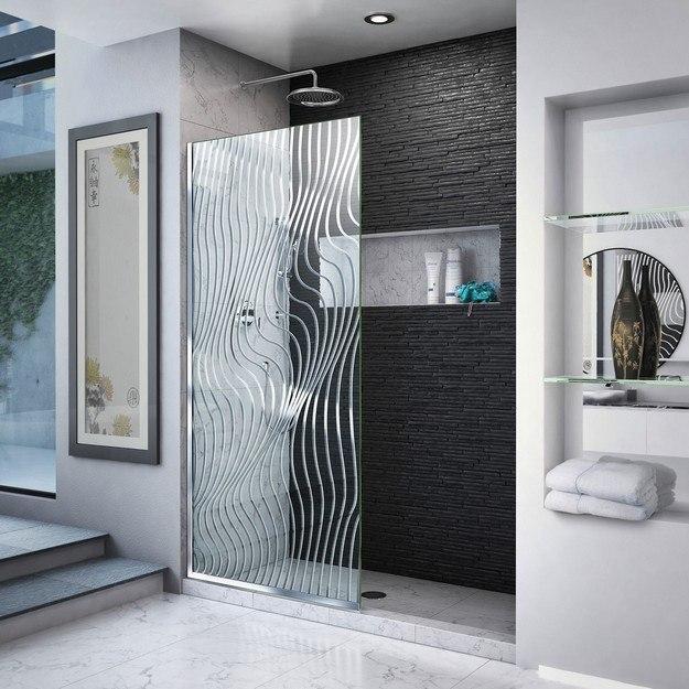 Dreamline D3234721m11 08 Platinum Linea Surf 34 W X 72 H Single Panel Frameless Shower Screen Door
