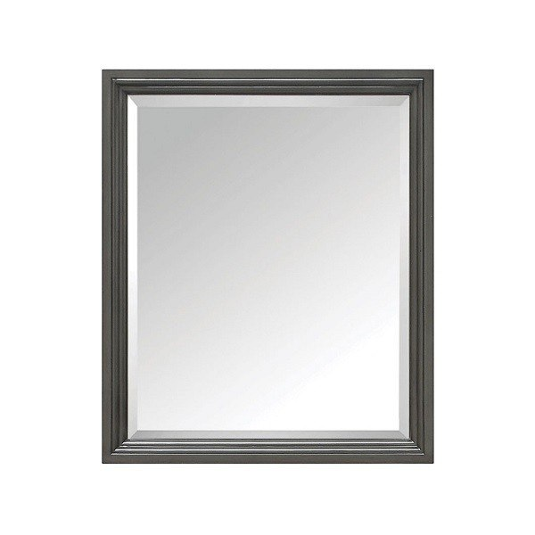 Avanity THOMPSON-M28-CL Thompson 28 Inch Rectangular Mirror in Charcoal Glaze