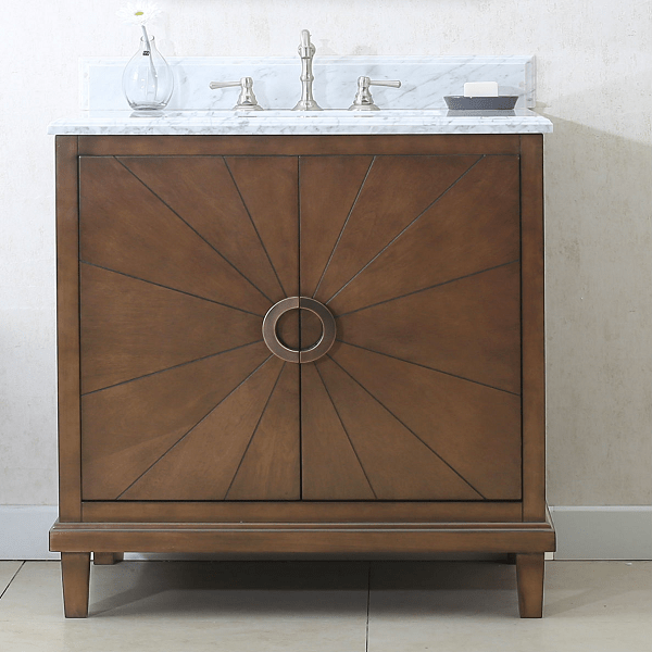 LEGION FURNITURE WLF7040-30-CW 30 INCH ANTIQUE COFFEE VANITY WITH WLF7040-31 TOP, NO FAUCET