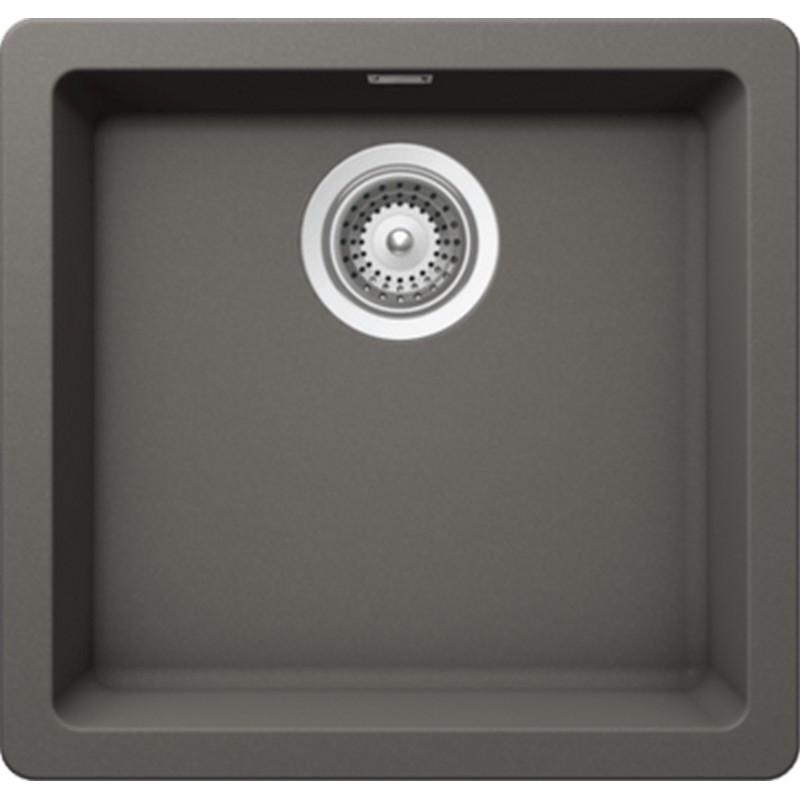 NOVANNI JCES100SV CRISTADUR 17 3/4 INCH GRANITE SINGLE BOWL KITCHEN SINK IN SILVERSTONE