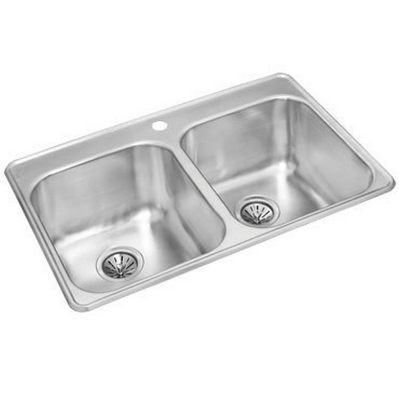NOVANNI JE2031D7 ELITE 31 1/2 INCH STAINLESS STEEL DOUBLE BOWL KITCHEN SINK