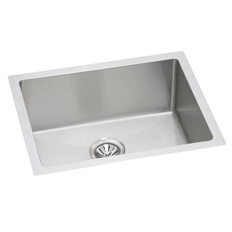 NOVANNI JEFU1824D9U ELITE 24 INCH STAINLESS STEEL SINGLE BOWL KITCHEN SINK