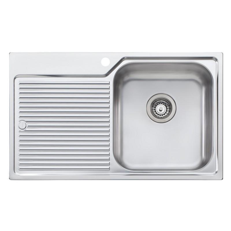 Novanni Ol2021 Oliveri 32 1 2 Inch Single Bowl Stainless Steel Kitchen Sink