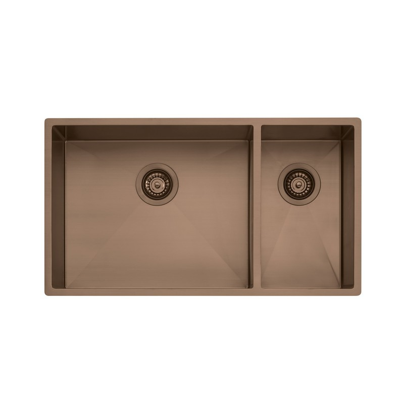 NOVANNI OLSB35CU OLIVERI 31 INCH ONE AND A HALF BOWL STAINLESS STEEL KITCHEN SINK IN COPPER