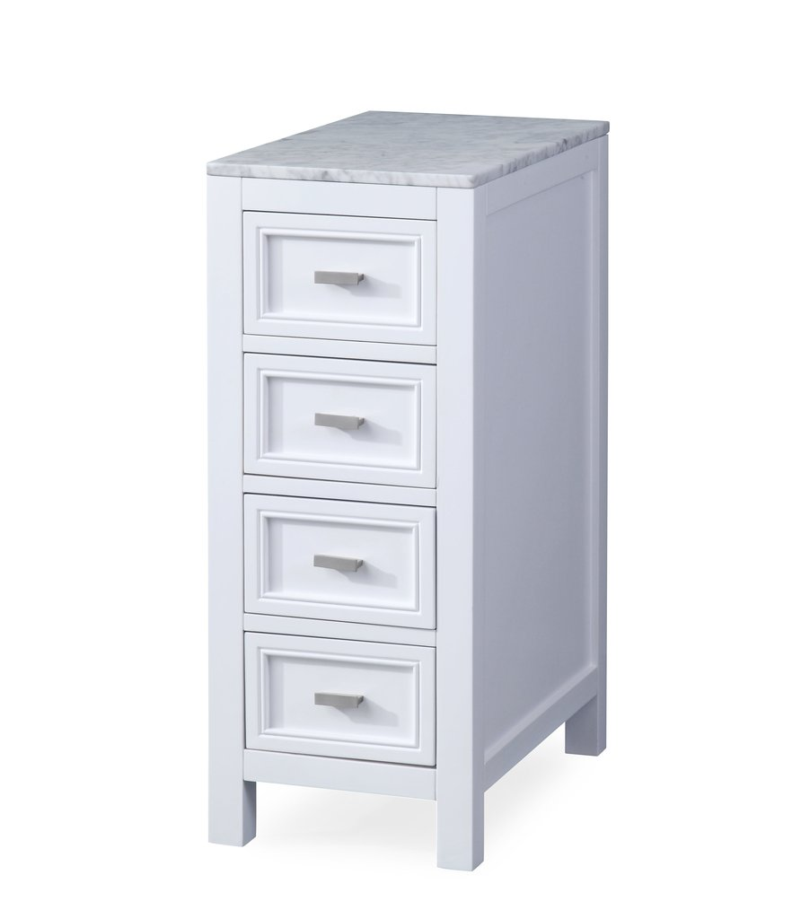 CHANS FURNITURE ZK-8154B 12 INCH CONSOLE IN WHITE