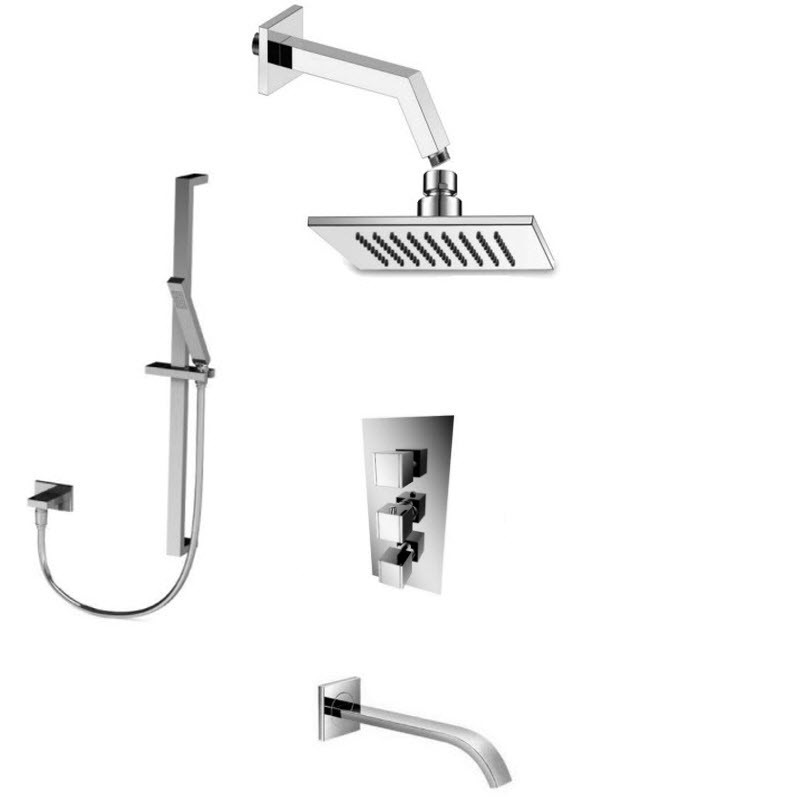 ISENBERG SERIES 150 COMBO PACK SHOWER SYSTEM IN CHROME