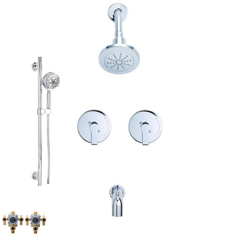 DANZE SOUTH SHORE COMBO PACK SHOWER SYSTEM