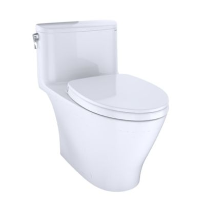 TOTO MS642124CEFG NEXUS ONE-PIECE ELONGATED 1.28 GPF UNIVERSAL HEIGHT TOILET WITH CEFIONTECT AND SS124 SOFTCLOSE SEAT, WASHLET+ READY