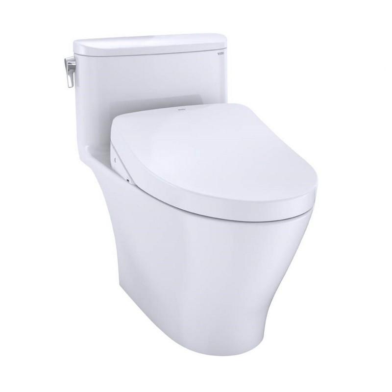 TOTO MW6423046CEFG#01 WASHLET + NEXUS ONE-PIECE ELONGATED 1.28 GPF TOILET WITH S500E BIDET SEAT IN COTTON WHITE