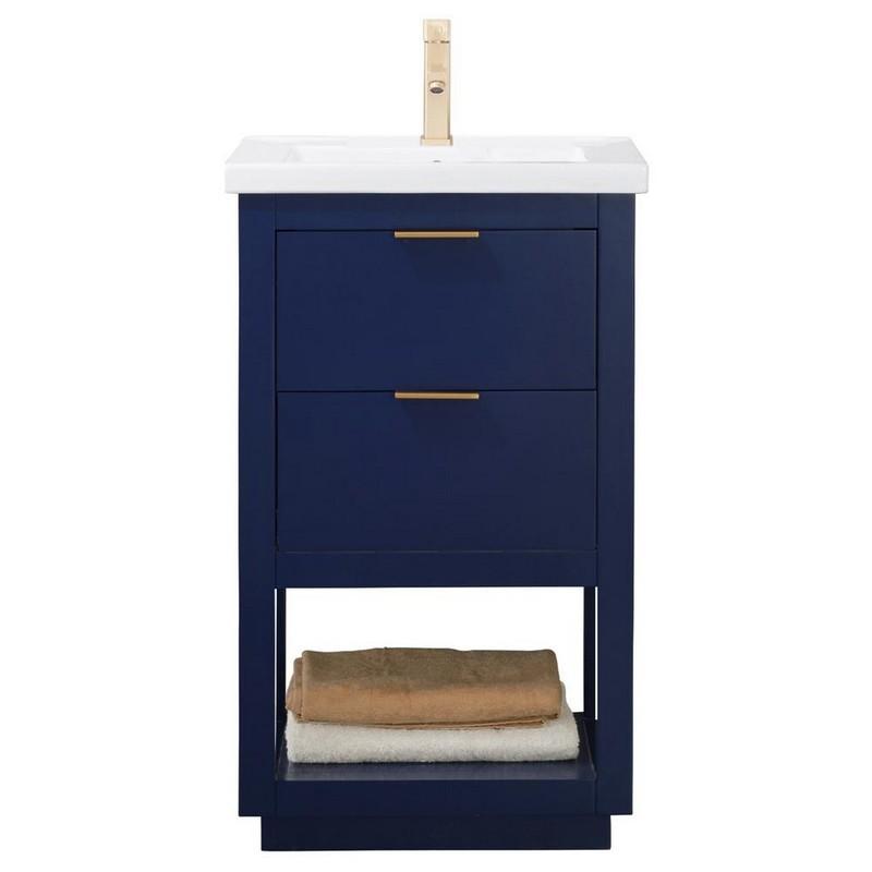 Design Element S04 24 Blu Klein 24 Inch Bath Vanity In Blue