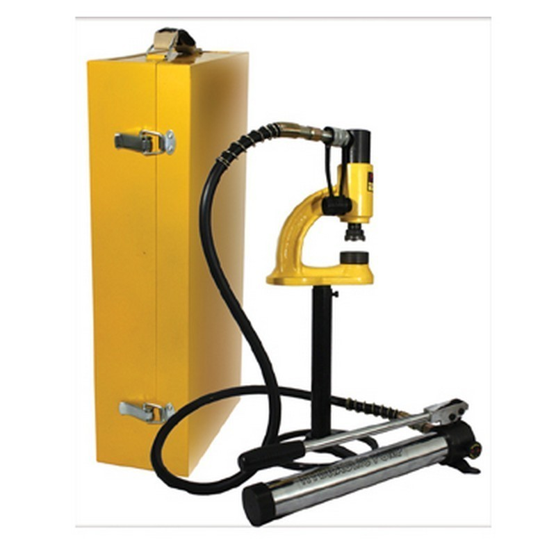 WHITEHAUS WHNSH8 HYDRAULIC MANUAL HOLE PUNCHING MACHINE FOR USE WITH STAINLESS STEEL UP TO 1 1/2 MM THICK