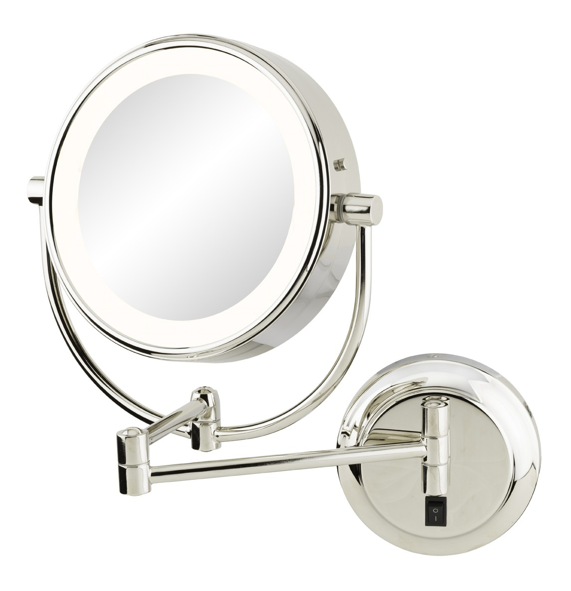 APTATIONS 945-35-135HW NEOMODERN LED LIGHTED HARDWIRED WALL MIRROR IN BRUSHED BRASS