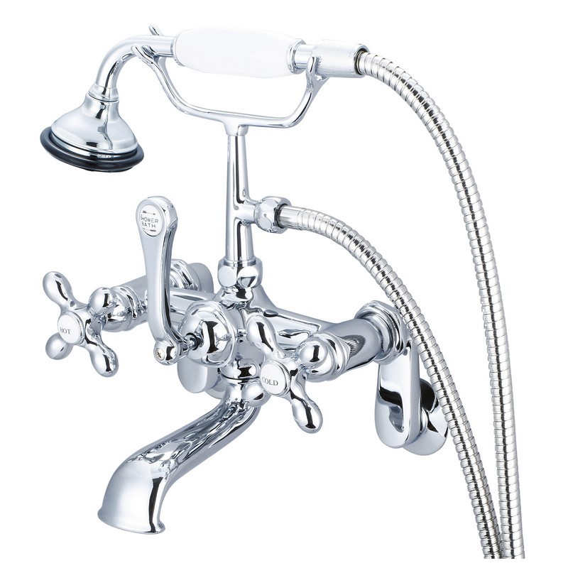Kingston Brass AE1T5 Vintage 3-3//8-Inch Wall Mount 2-Handle Tub Faucet 4-1//2 in Spout Reach Oil Rubbed Bronze