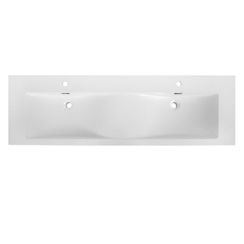 STREAMLINE K-098-SLSITRC-63 63 INCH SOLID SURFACE RESIN VANITY TOP WITH INTEGRAL SINKS