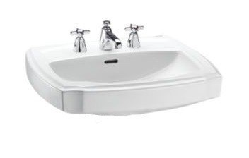 TOTO LT972.8 GUINEVERE 24-3/8 X 19-7/8 INCH LAVATORY WITH 8 INCH FAUCET CENTERS