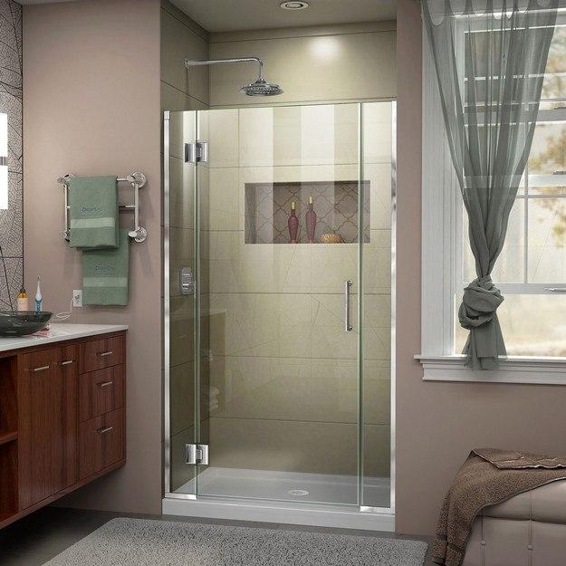 DREAMLINE D1230672 UNIDOOR-X 35-35 1/2 W X 72 H FRAMELESS HINGED SHOWER DOOR