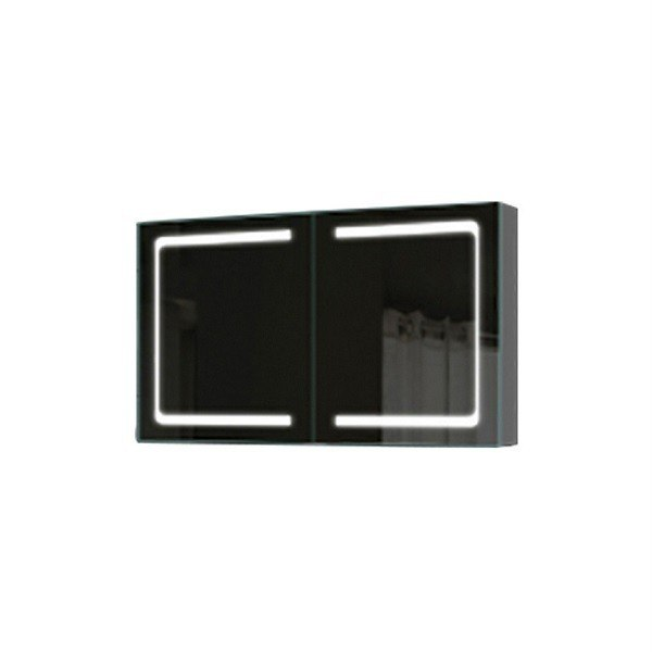 Flawless MC2L3630 Anodized Aluminum W 36 X H 30 Inch Fog Free, Double Door Medicine Cabinet with LED Light
