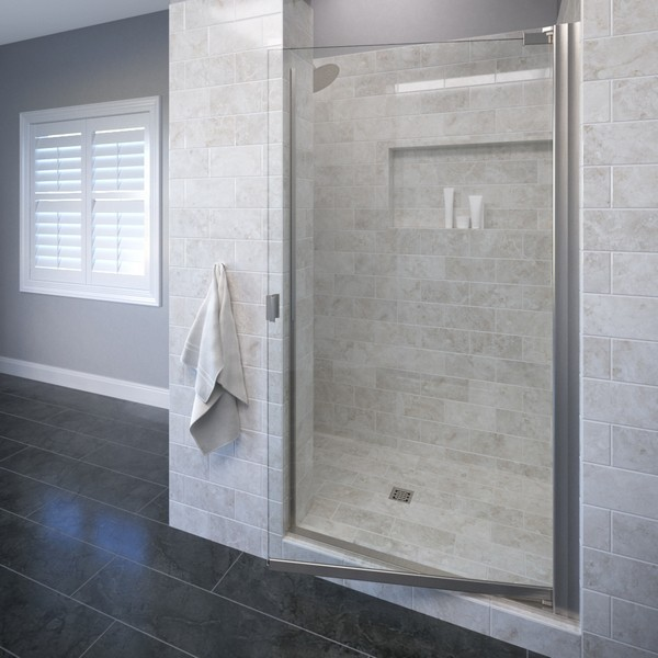 BASCO ARMN00A3066 ARMON 28.6 TO 30.1 INCH WIDE OPENING, SEMI - FRAMELESS PIVOT SHOWER DOOR