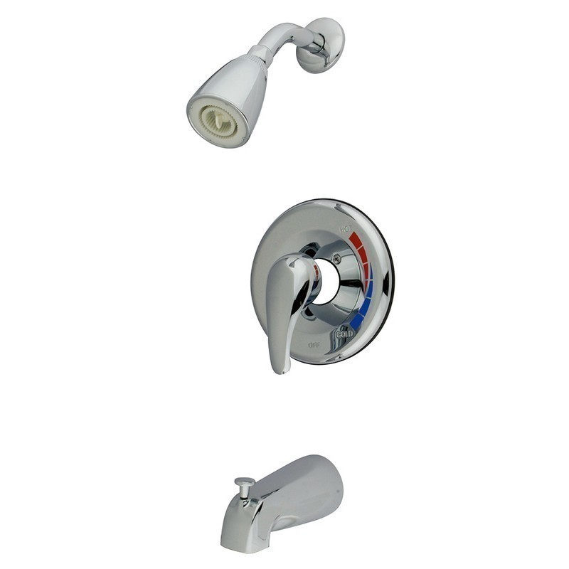 KINGSTON BRASS KB651T CHATHAM TRIM ONLY FOR SINGLE LEVER HANDLE TUB AND SHOWER FAUCET IN POLISHED CHROME
