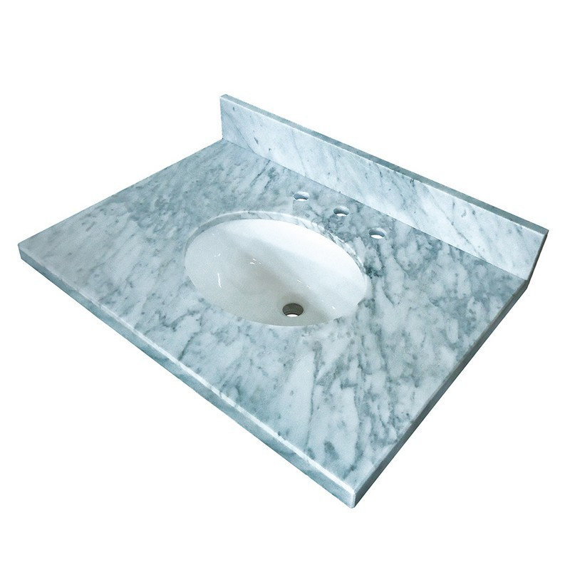 KINGSTON BRASS KVPB3622M38 FAUCETURE TEMPLETON CARRARA MARBLE VANITY WITH TOPS WITH 17 X 14 INCH UNDER MOUNT SINK
