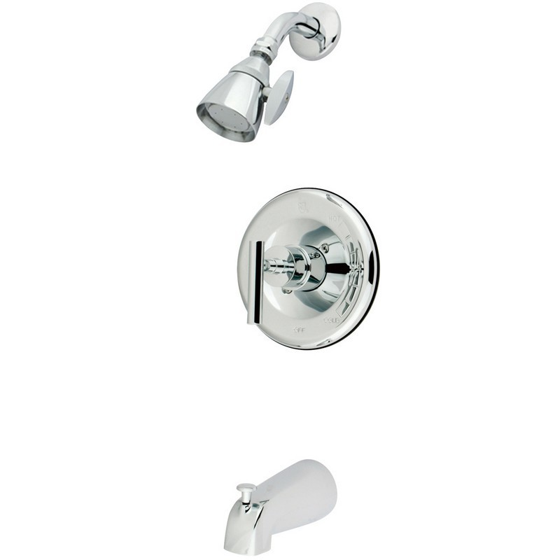 KINGSTON BRASS KB663CML MANHATTAN TUB AND SHOWER FAUCET