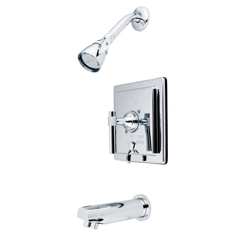 KINGSTON BRASS KB865ML MILANO TUB AND SHOWER FAUCET