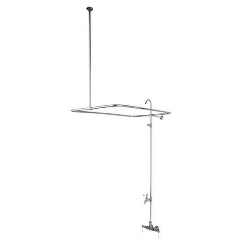 KINGSTON BRASS CC66T1 VINTAGE 3-3/8 INCH WALL MOUNT TUB FILLER IN POLISHED CHROME