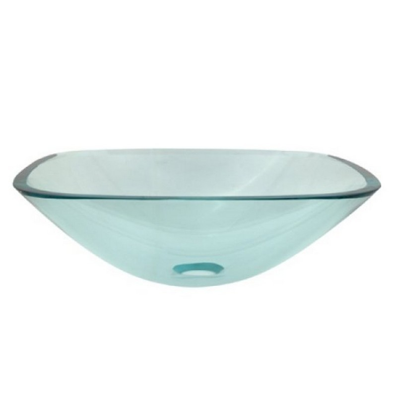 KINGSTON BRASS EVSQCC4 FAUCETURE TEMPLETON 1/2 INCH ROUND TEMPERED GLASS VESSEL SINK, CLEAR