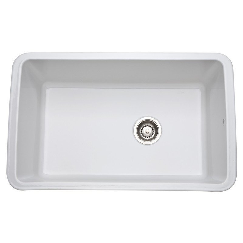 Rohl 6307 Allia Fireclay 31-5/8 Inch Fireclay Single Bowl Undermount Kitchen Sink