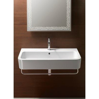 GSI 694411-TWO HOLE - 15.9 APART TRACCIA 35 INCH BATHROOM SINK IN WHITE